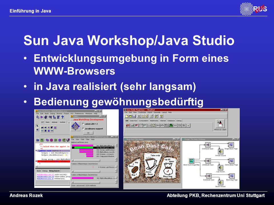 Sun Java Workshop/Java Studio