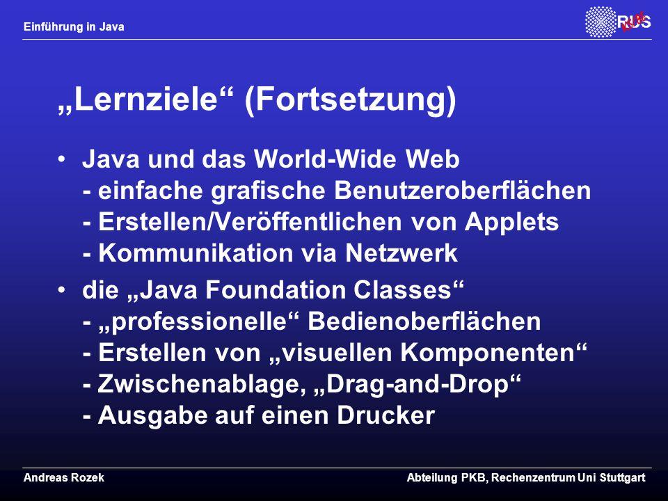"""Lernziele (Fortsetzung)"
