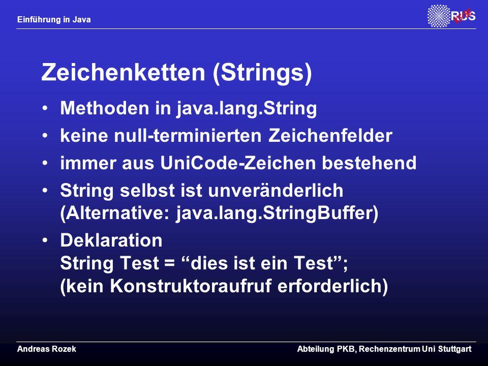 Zeichenketten (Strings)