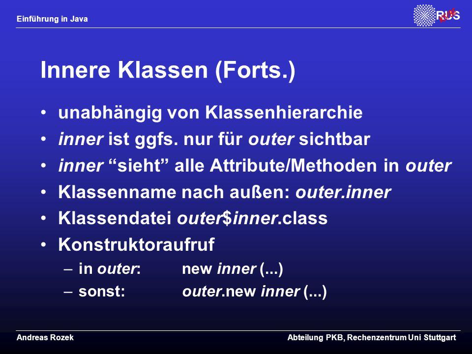 Innere Klassen (Forts.)