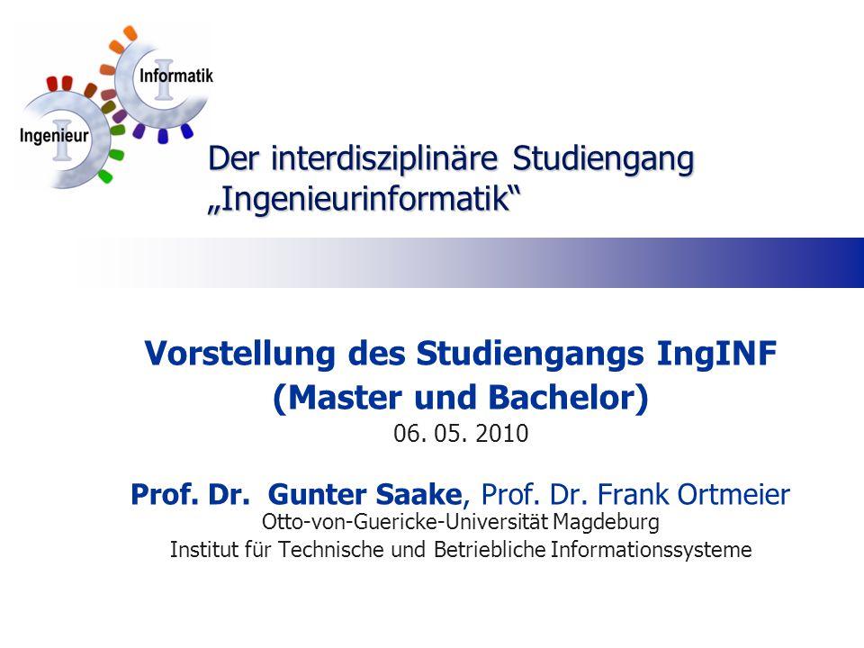"Der interdisziplinäre Studiengang ""Ingenieurinformatik"