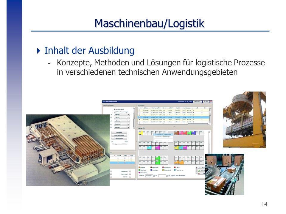 Maschinenbau/Logistik