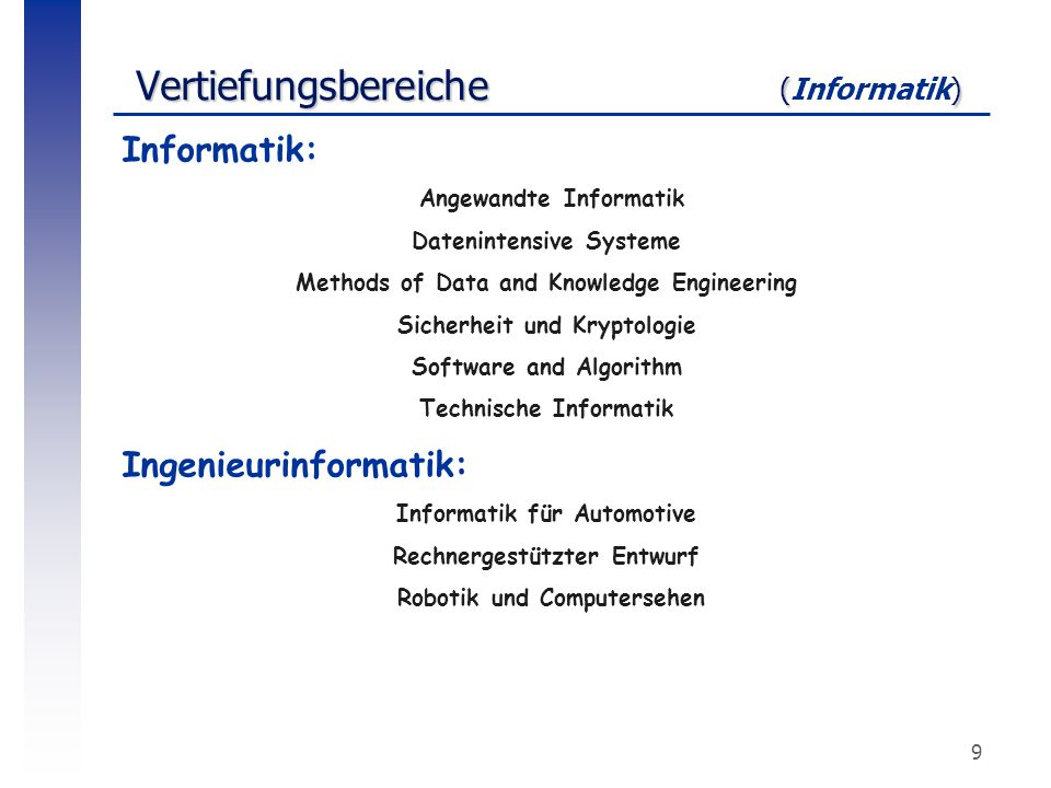 Vertiefungsbereiche (Informatik)