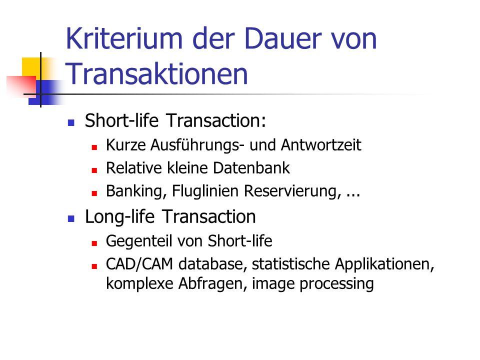 Kriterium der Dauer von Transaktionen