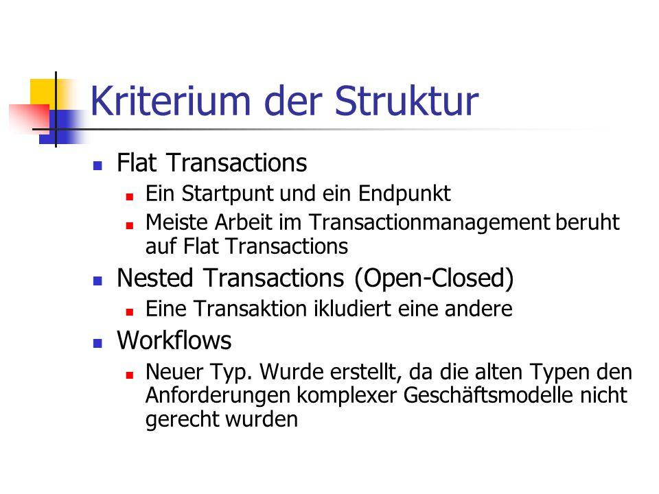 Kriterium der Struktur