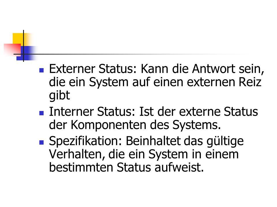 Externer Status: Kann die Antwort sein, die ein System auf einen externen Reiz gibt