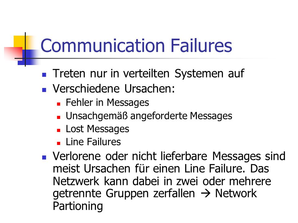 Communication Failures