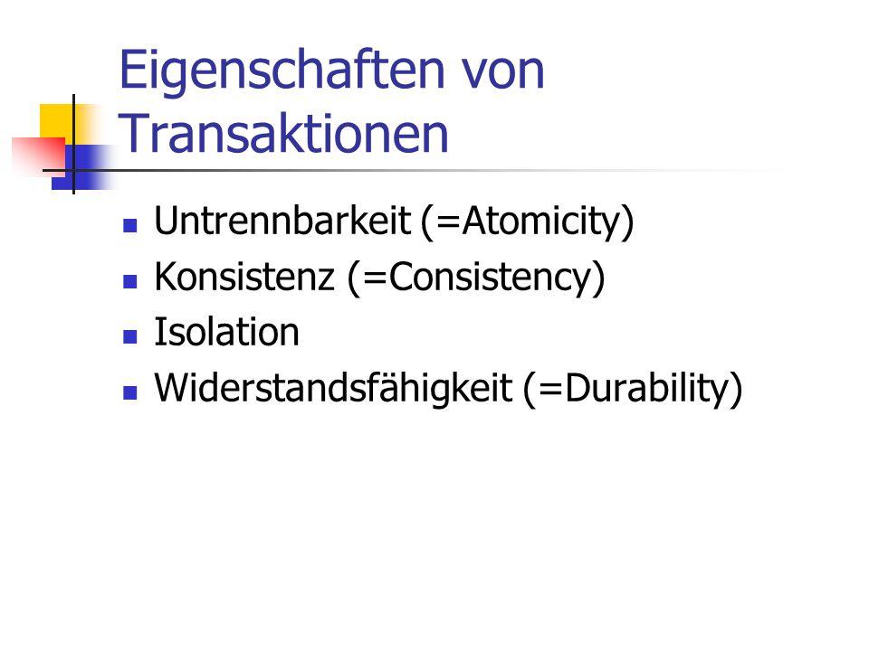 Eigenschaften von Transaktionen