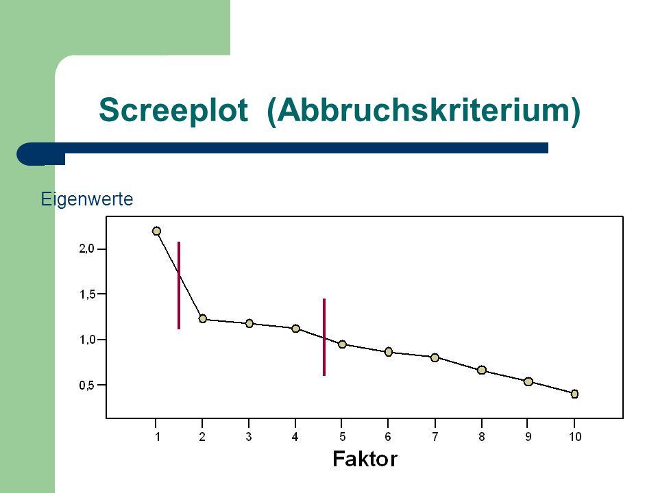 Screeplot (Abbruchskriterium)