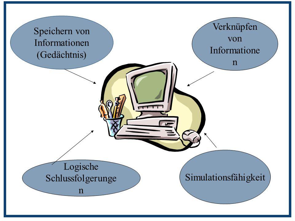 Speichern von Informationen (Gedächtnis) Verknüpfen von Informationen
