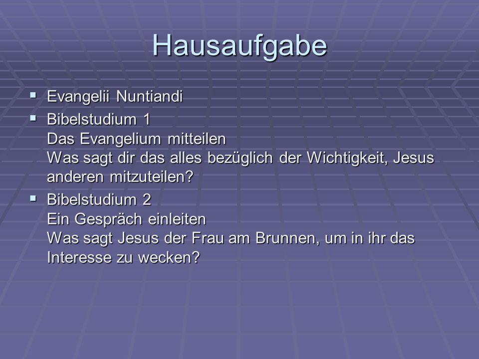 Hausaufgabe Evangelii Nuntiandi