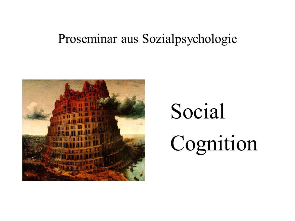 Proseminar aus Sozialpsychologie