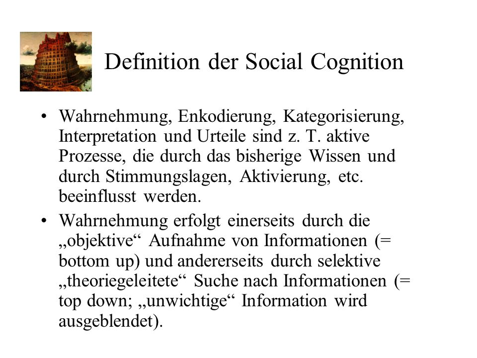 Definition der Social Cognition