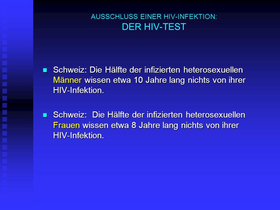 AUSSCHLUSS EINER HIV-INFEKTION: DER HIV-TEST