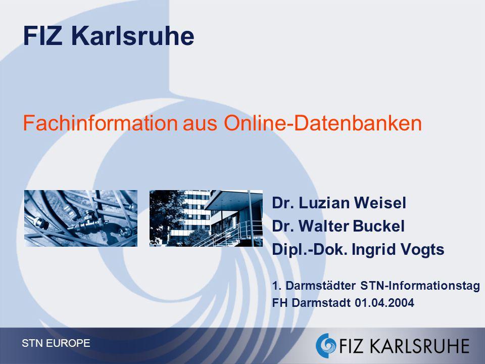 FIZ Karlsruhe Fachinformation aus Online-Datenbanken