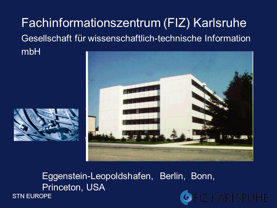 Fachinformationszentrum (FIZ) Karlsruhe Gesellschaft für wissenschaftlich-technische Information mbH