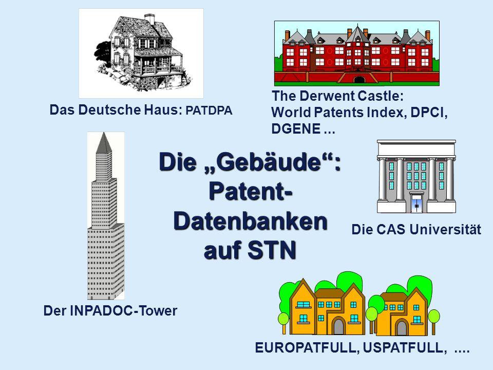 """Die """"Gebäude : Patent-Datenbanken auf STN"""