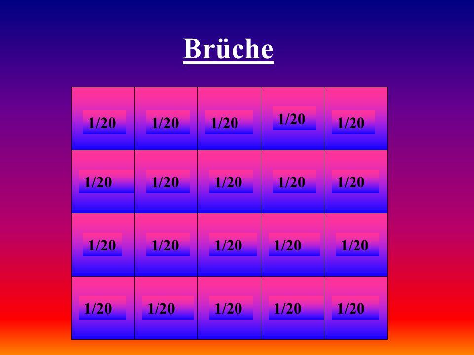 Brüche 1/20. 1/20. 1/20. 1/20. 1/20. 1/20. 1/20. 1/20. 1/20. 1/20. 1/20. 1/20. 1/20. 1/20.