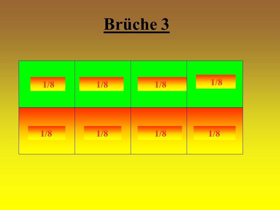 Brüche 3 1/8 1/8 1/8 1/8 1/8 1/8 1/8 1/8