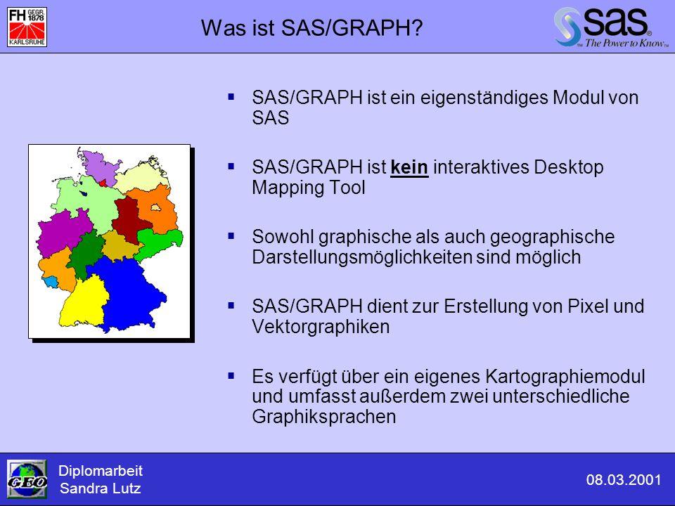 Was ist SAS/GRAPH SAS/GRAPH ist ein eigenständiges Modul von SAS
