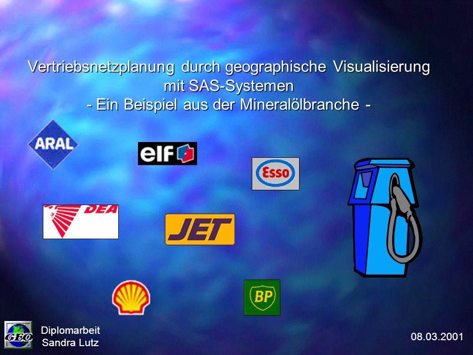 Vertriebsnetzplanung durch geographische Visualisierung mit SAS-Systemen - Ein Beispiel aus der Mineralölbranche -