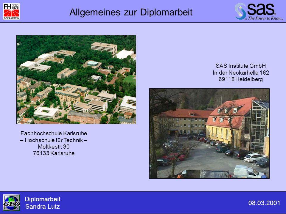 Allgemeines zur Diplomarbeit