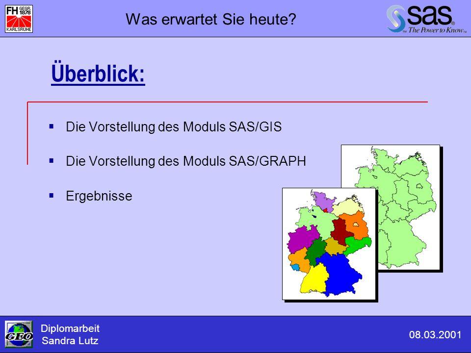 Überblick: Was erwartet Sie heute Die Vorstellung des Moduls SAS/GIS