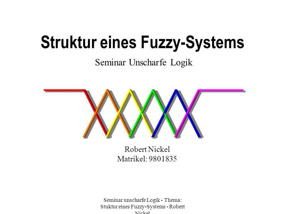 Struktur eines Fuzzy-Systems