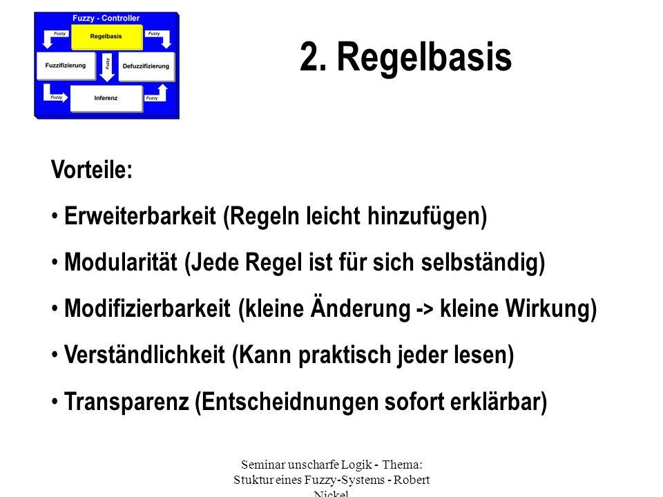 2. Regelbasis Vorteile: Erweiterbarkeit (Regeln leicht hinzufügen)