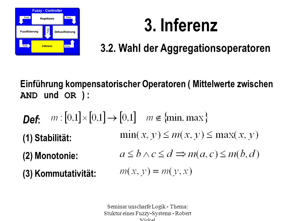 3.2. Wahl der Aggregationsoperatoren