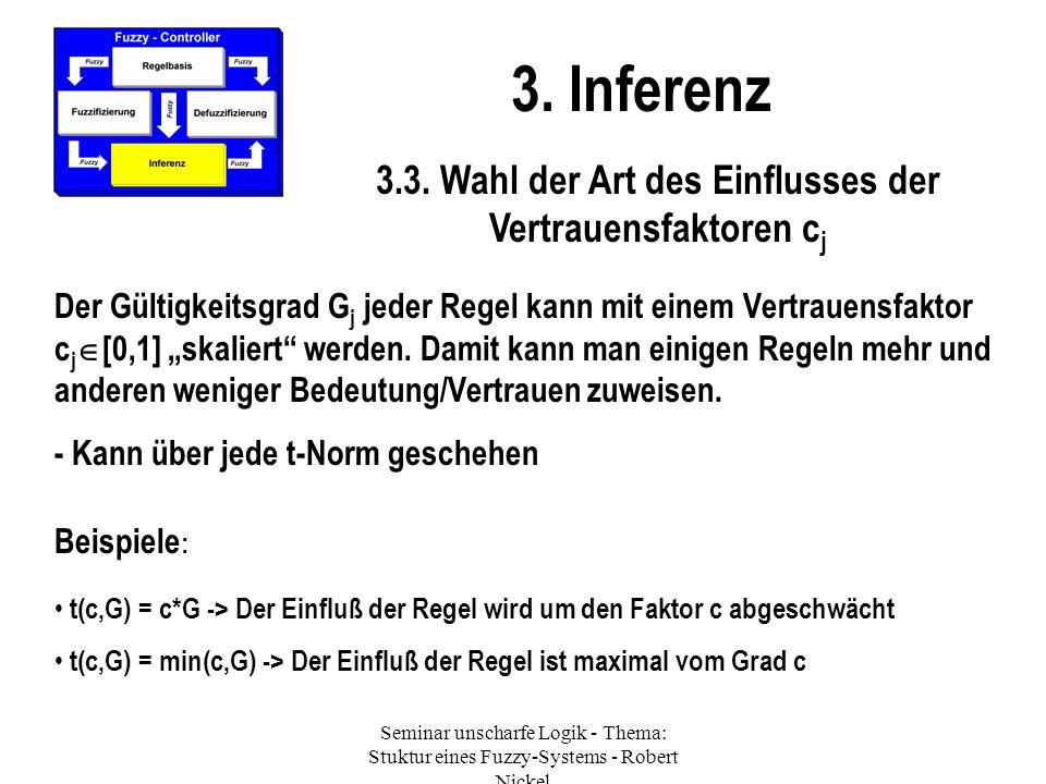 3.3. Wahl der Art des Einflusses der Vertrauensfaktoren cj