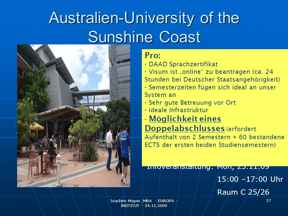Australien-University of the Sunshine Coast