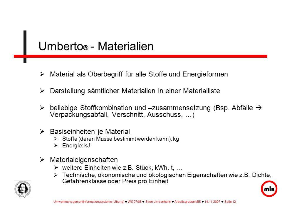 Umberto® - Materialien