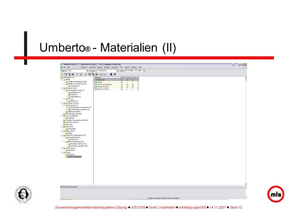 Umberto® - Materialien (II)