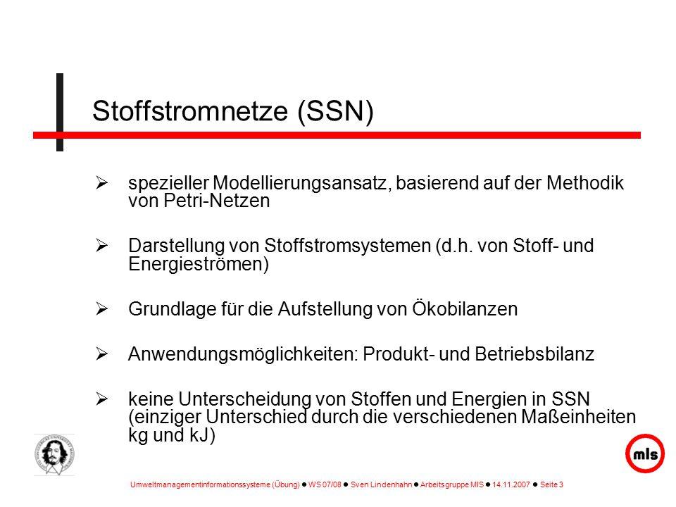 Stoffstromnetze (SSN)