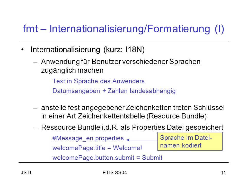 fmt – Internationalisierung/Formatierung (I)