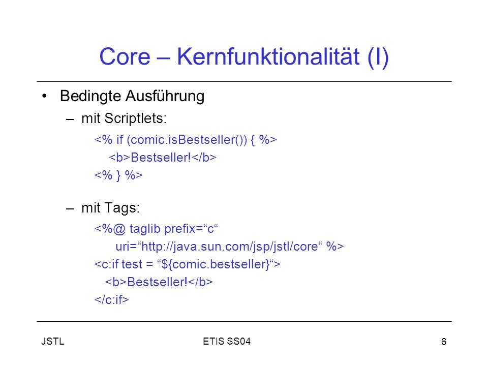 Core – Kernfunktionalität (I)