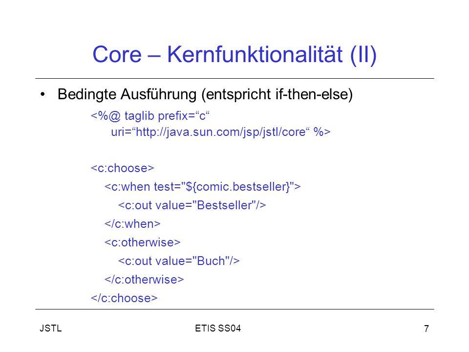 Core – Kernfunktionalität (II)