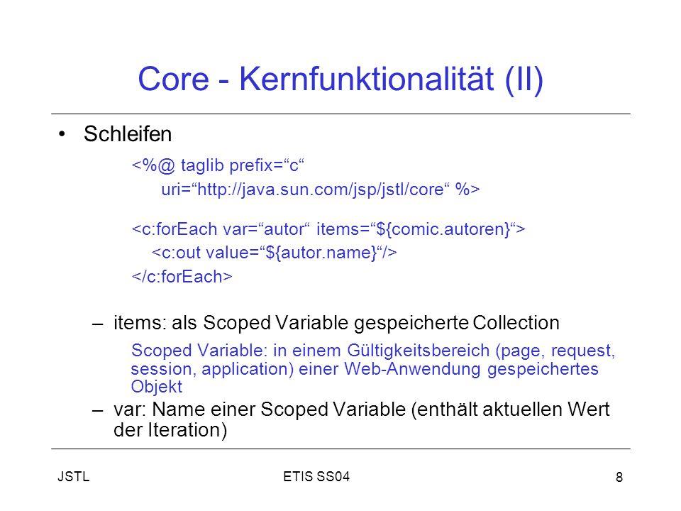 Core - Kernfunktionalität (II)