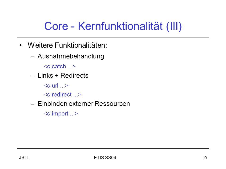 Core - Kernfunktionalität (III)