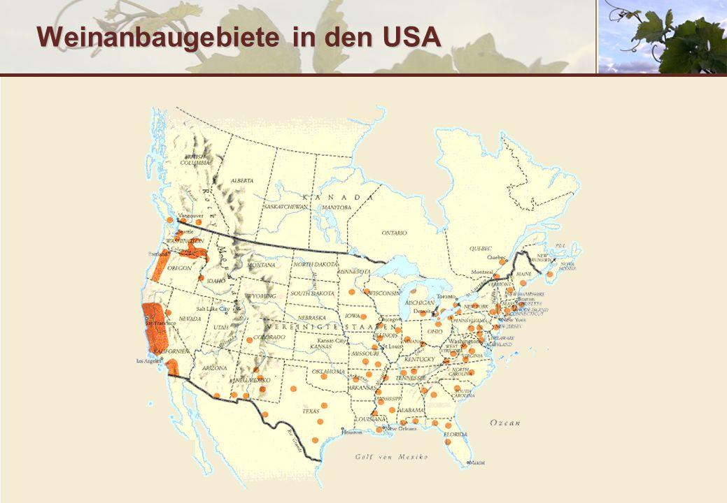 Weinanbaugebiete in den USA