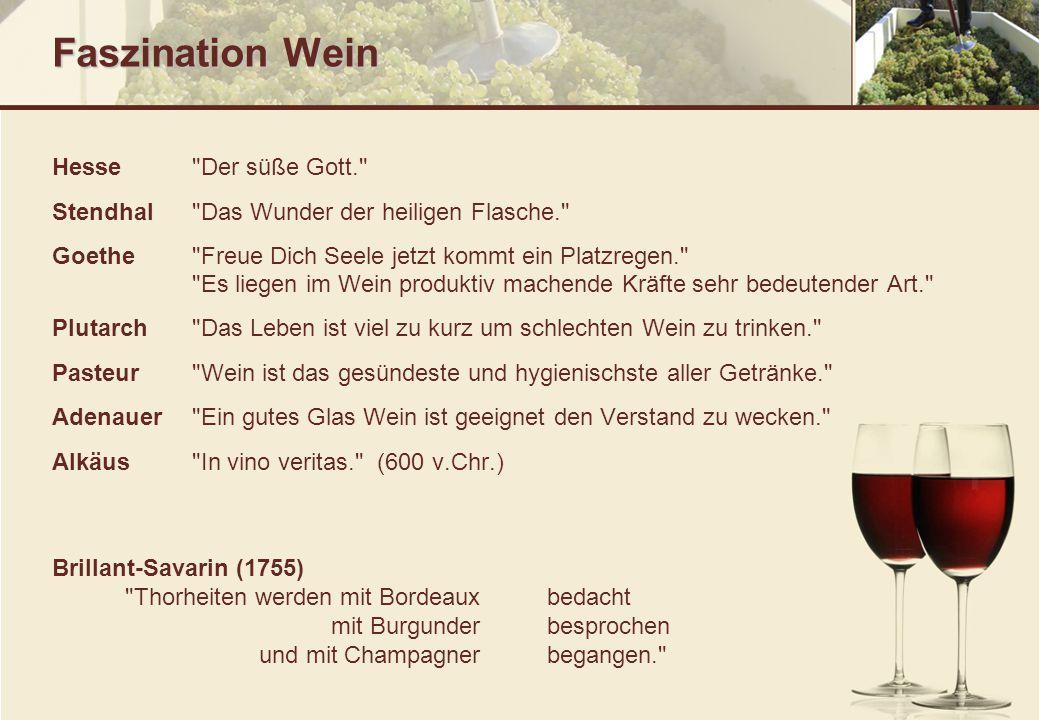 Faszination Wein Hesse Der süße Gott.