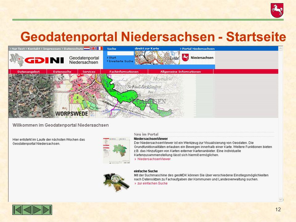Geodatenportal Niedersachsen - Startseite