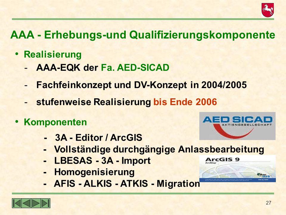 AAA - Erhebungs-und Qualifizierungskomponente