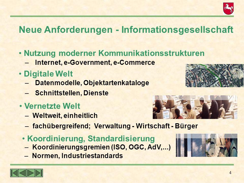 Neue Anforderungen - Informationsgesellschaft