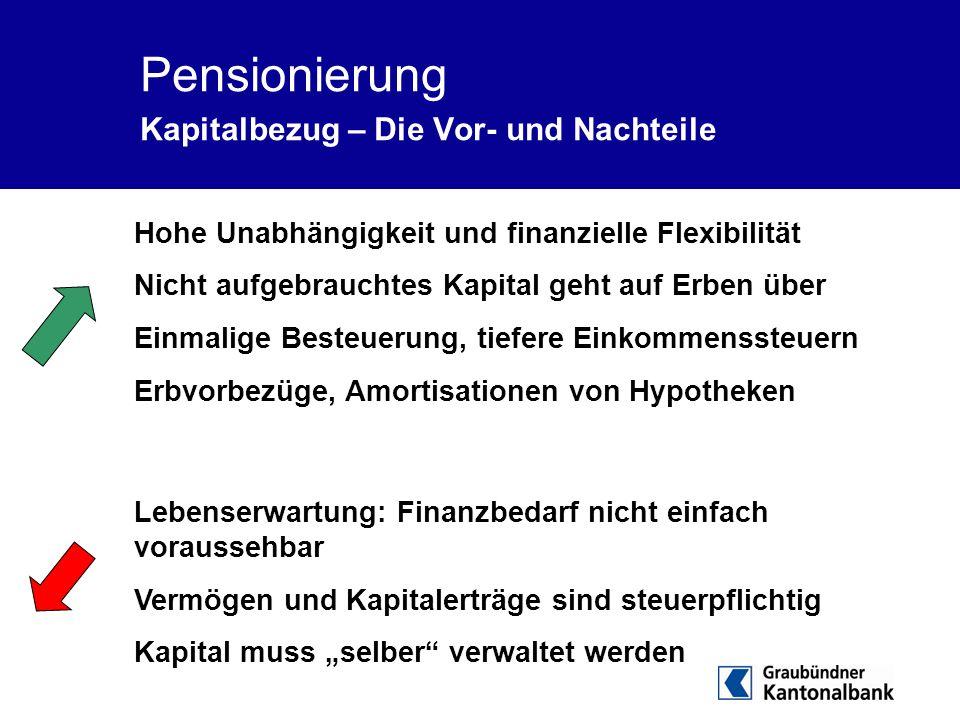 Pensionierung Kapitalbezug – Die Vor- und Nachteile