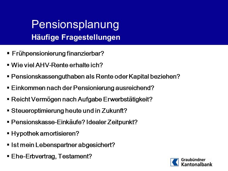 Pensionsplanung Häufige Fragestellungen