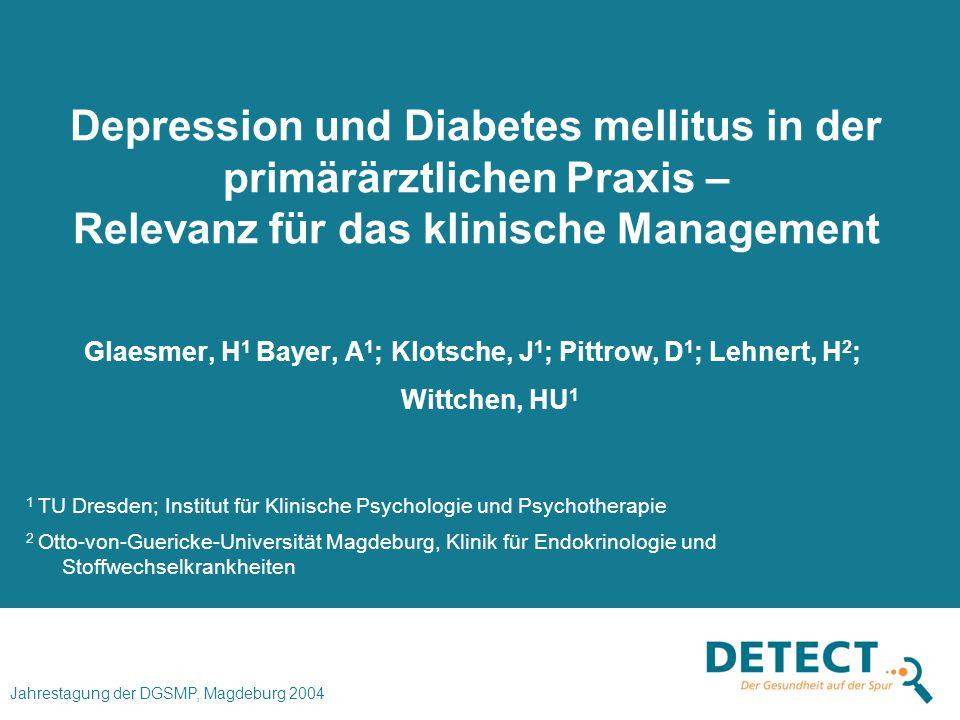 Depression und Diabetes mellitus in der primärärztlichen Praxis – Relevanz für das klinische Management
