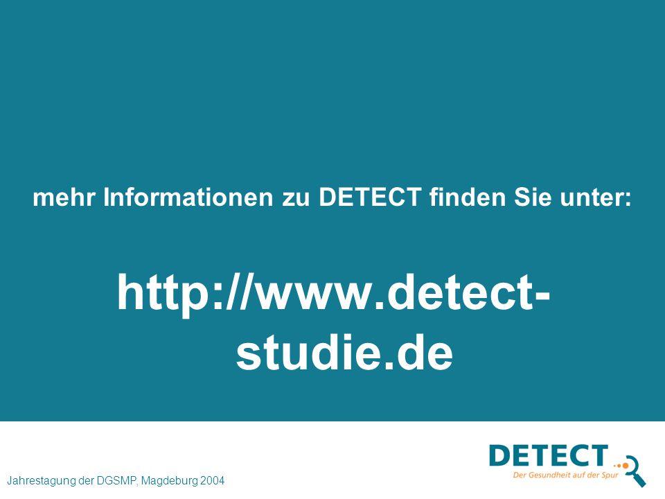mehr Informationen zu DETECT finden Sie unter:
