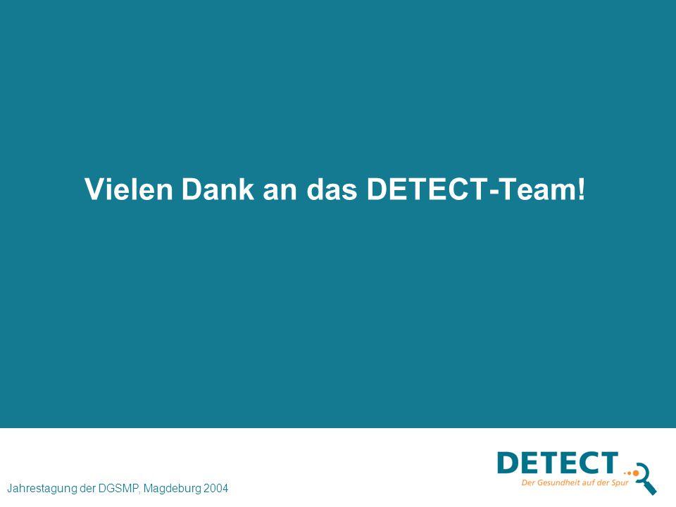 Vielen Dank an das DETECT-Team!
